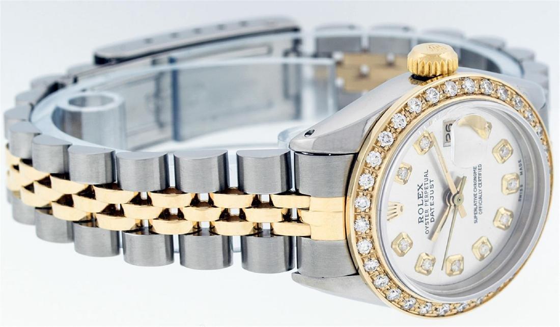 Rolex Ladies Two Tone 14KT Yellow Gold 0.70ctw Diamond - 9