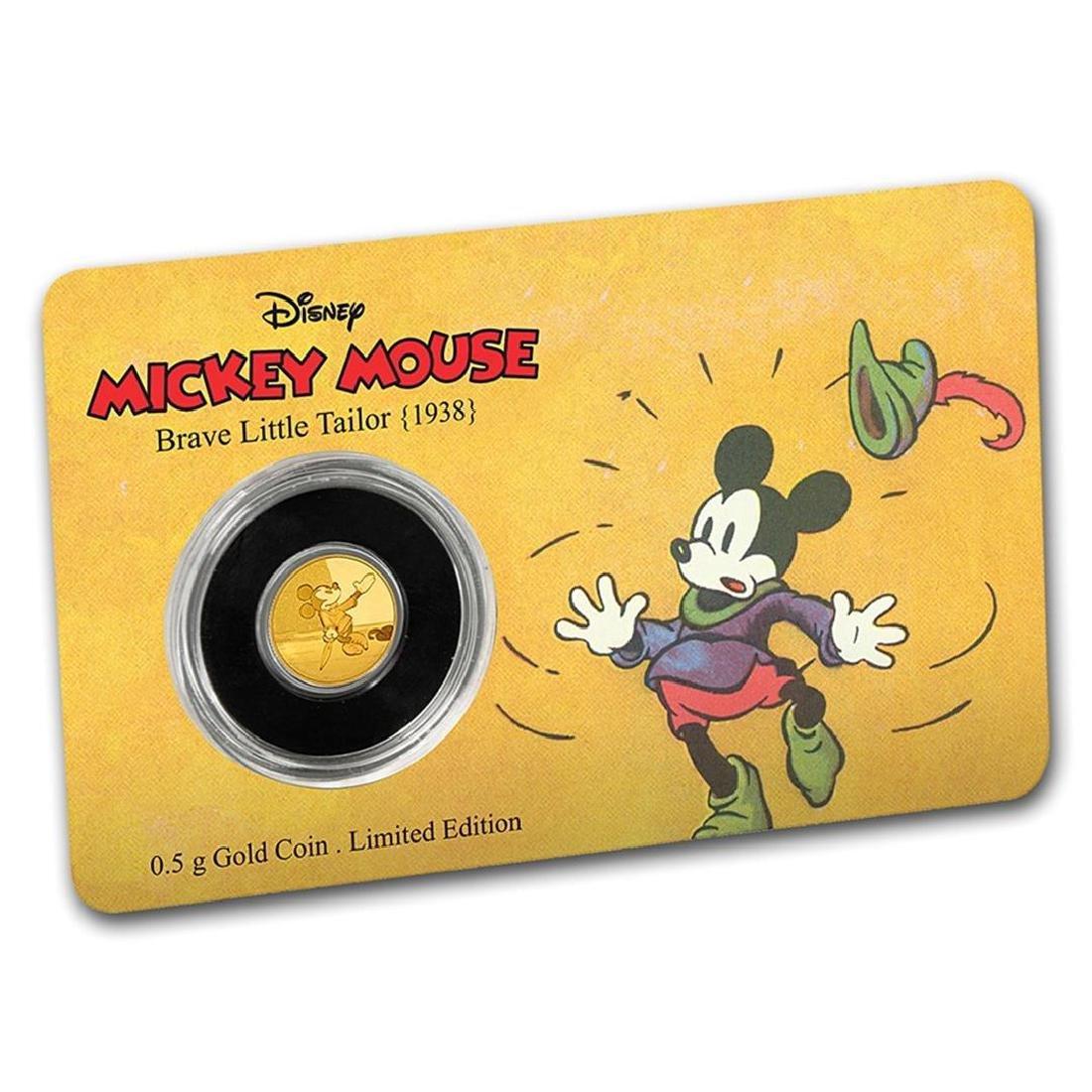 2016 $2 1/2 Mickey Brave Little Tailor .9999 Fine Gold