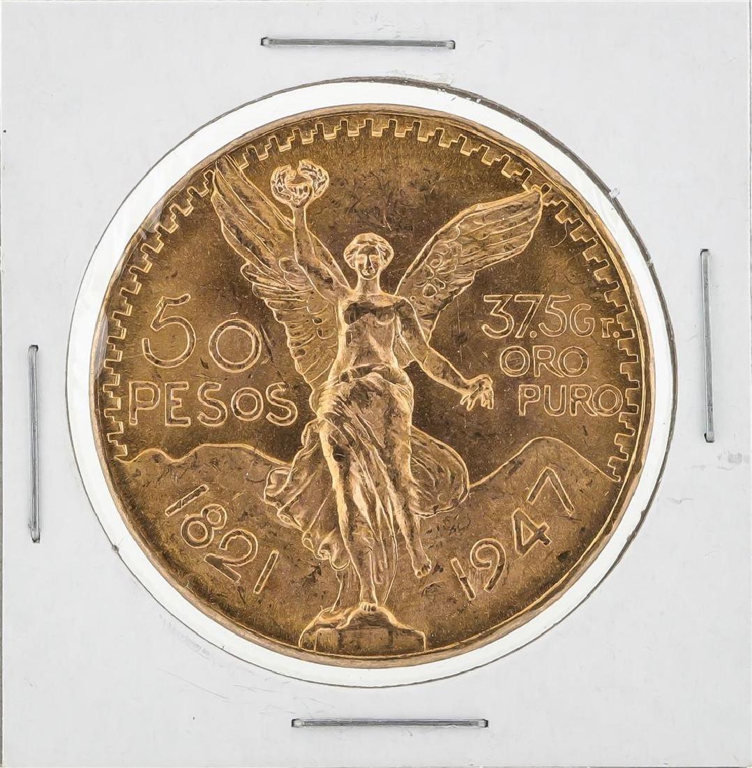 1947 Mexico 50 Pesos Gold Coin