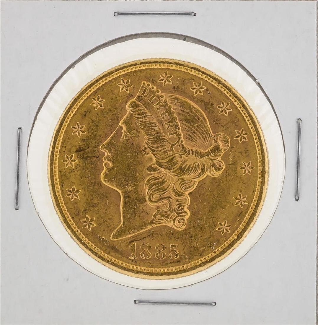 1885-S $20 Liberty Head Double Eagle Gold Coin