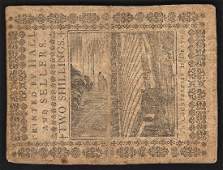 October 5, 1773 Two Shillings Pennsylvania Colonial