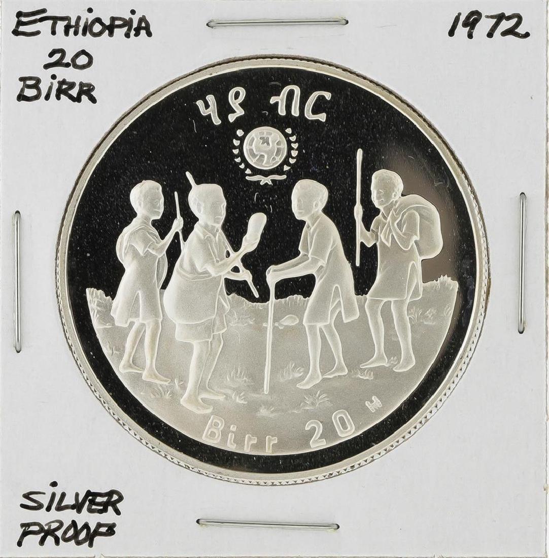 1972 20 Birr Ethiopia Silver Proof Coin