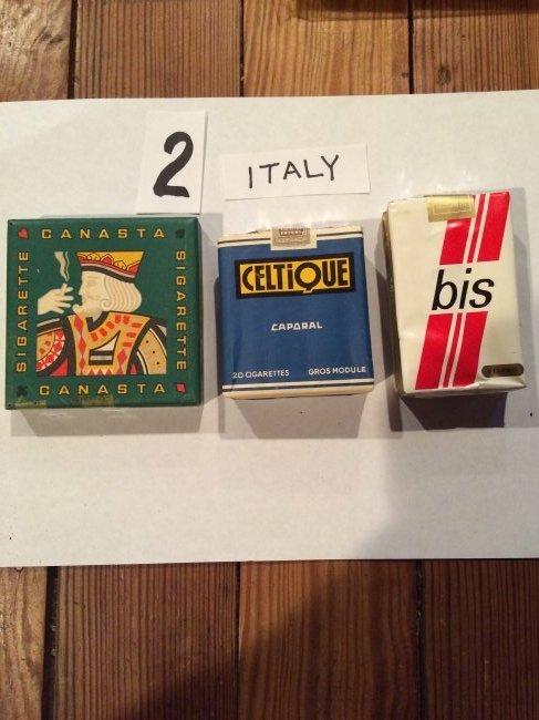 lot of 3 full cigarette packs from Italy vintage