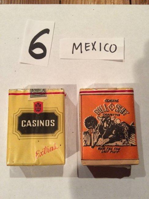 lot of 2 cigarette packs vintage bull shit rare