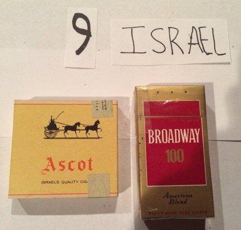 lot of 3 full cigarette packs vintage Israel