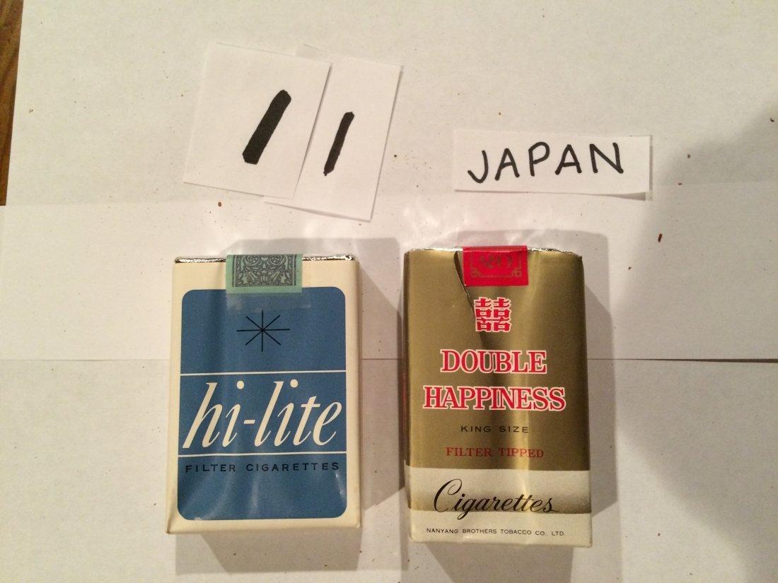 lot of 2 full cigarette packs from Japan vintage