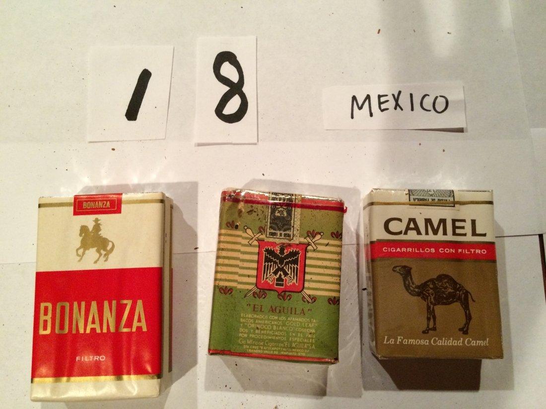 CAMEL BONANZA BOHEMIOS Mexico vintage 3 FULL PACKS