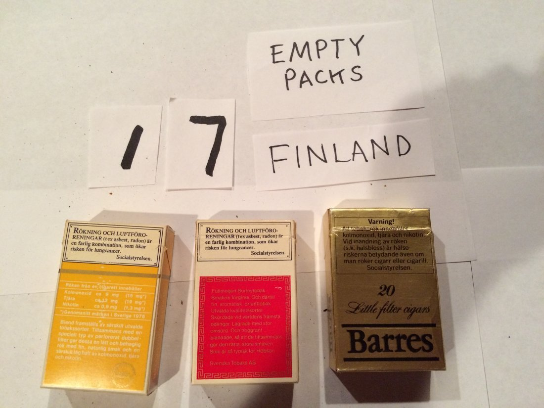 Barres Hobson Blend 3 empty cigarette boxes FINLAND - 2