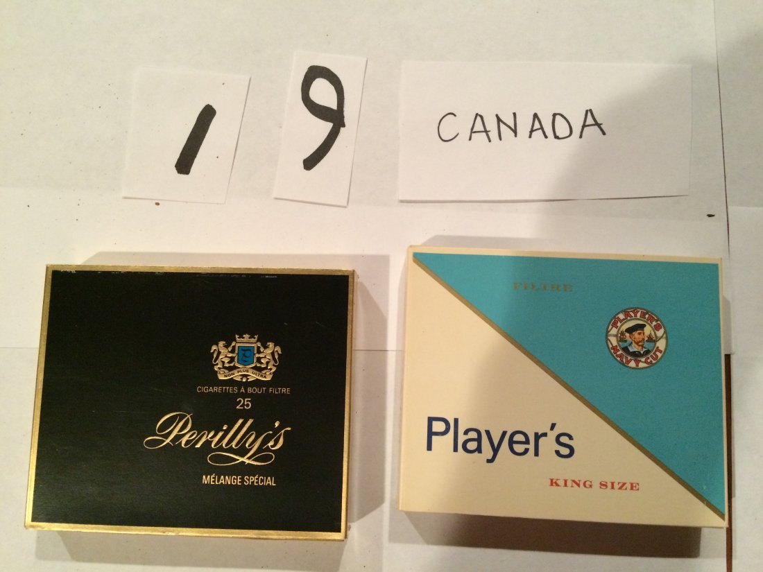 full cigarette boxes Perilly's Player's Canada NAVY CUT