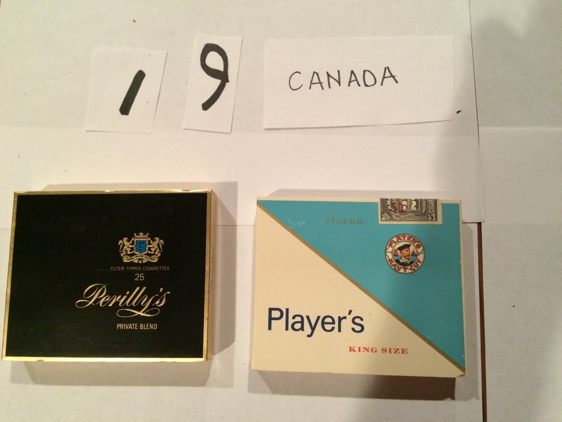 full cigarette boxes Perilly's Player's Canada NAVY CUT - 2