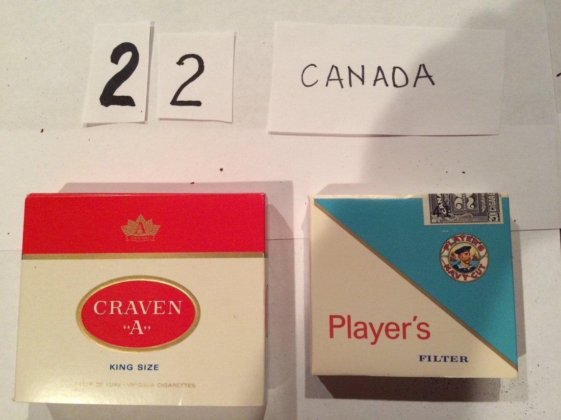 2 full cigarette boxes Player's Craven Canada