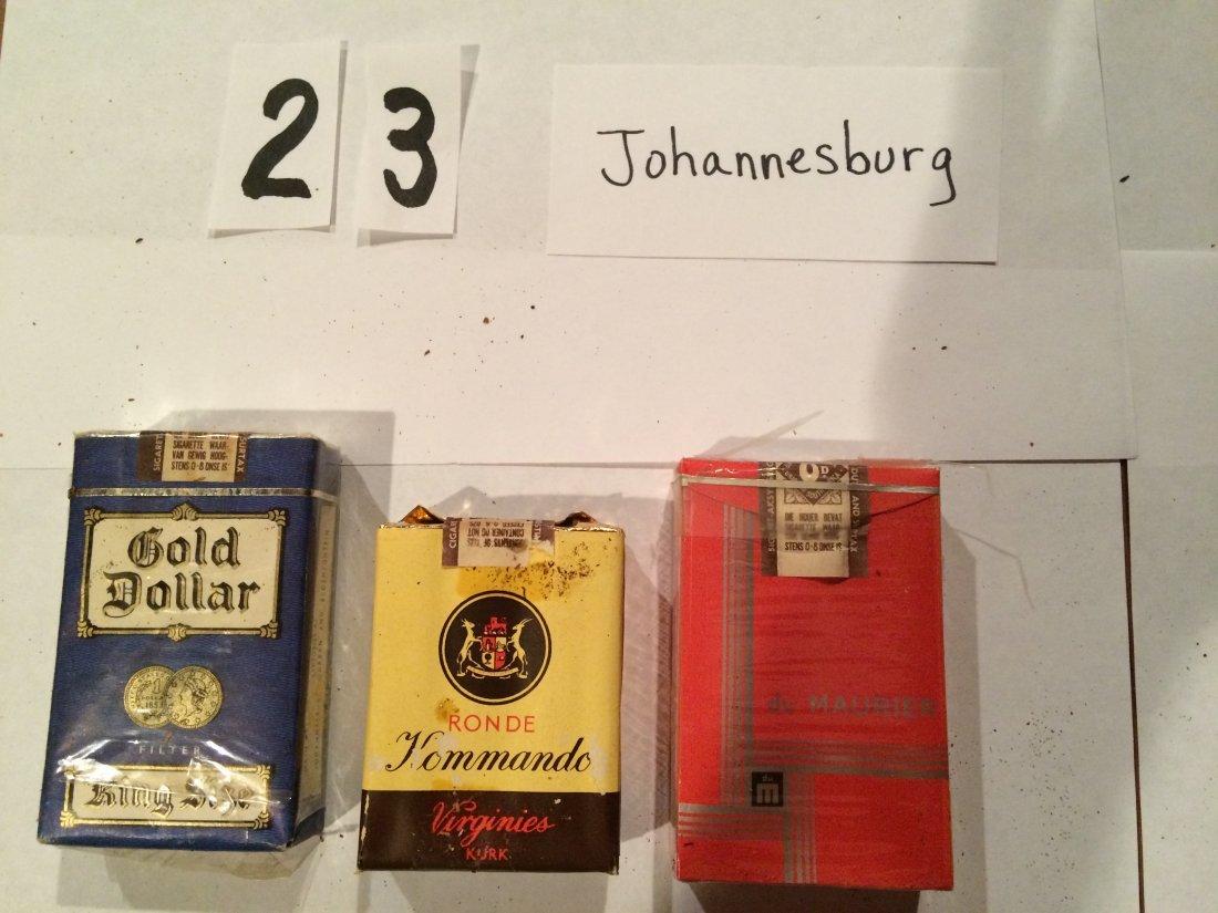 3 full cigarette packs Gold Dollar Commando du maurier