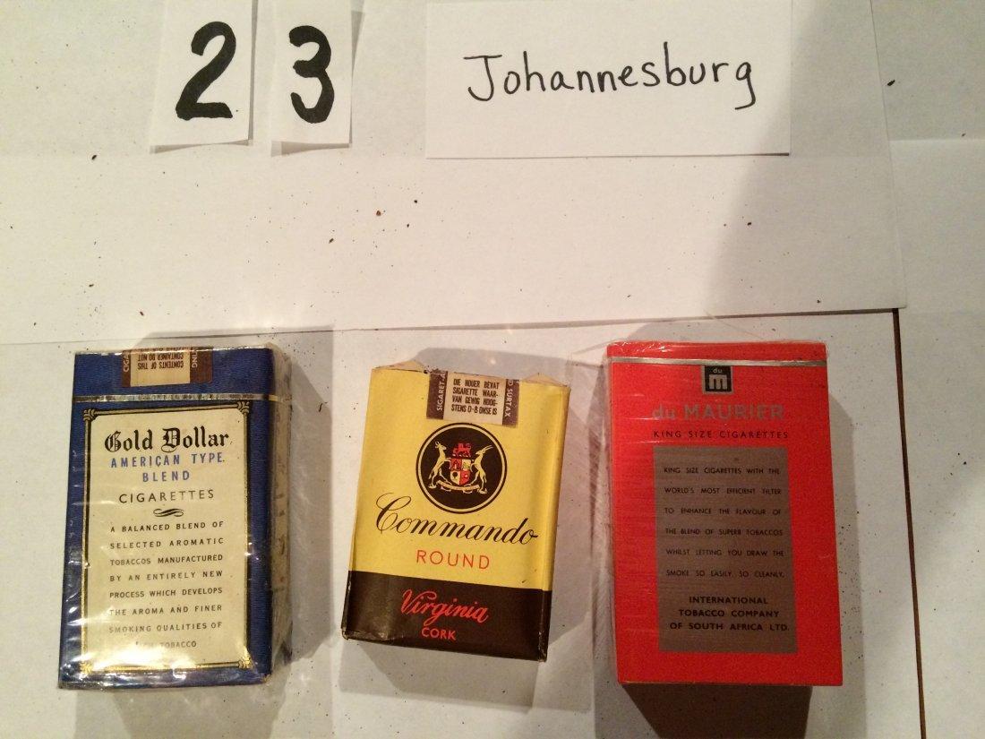 3 full cigarette packs Gold Dollar Commando du maurier - 2