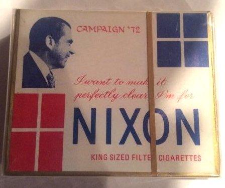 RARE NIXON 1972 CAMPAIGN CIGARETTES NEW IN BOX