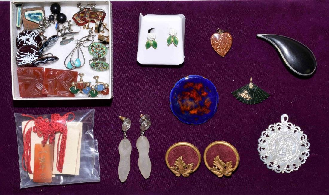 ASSORTED COSTUME JEWELRY - Includes enamel, natural