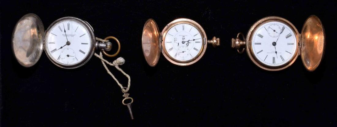 (3) POCKET WATCHES - Includes Bristol Watch Co. Coin