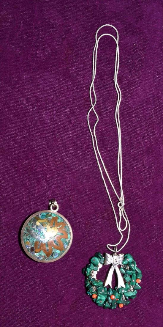 2pc STERLING JEWELRY - Includes Casados mosaic pendant