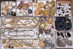 TRAY LOT OF ASSORTED COSTUME JEWELRY - Includes