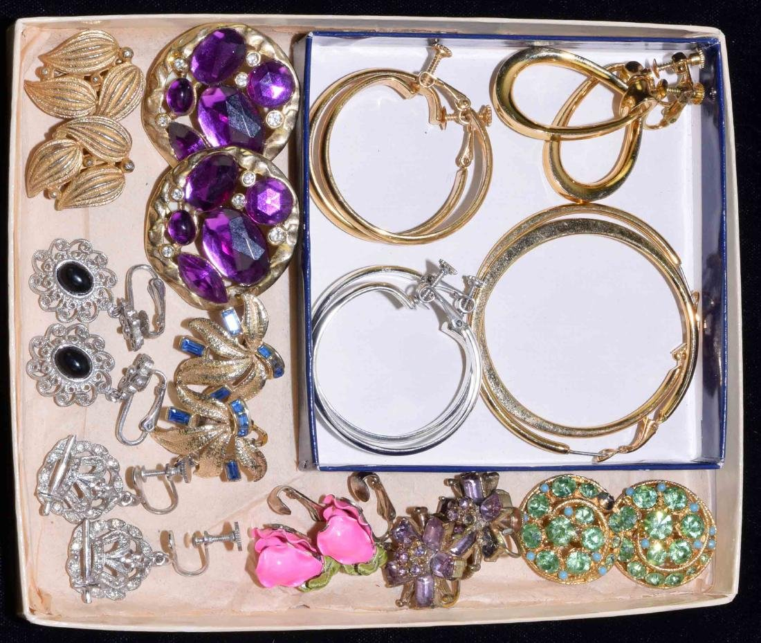 (12) PAIRS OF DESIGNER CLIP-ON EARRINGS - Includes: