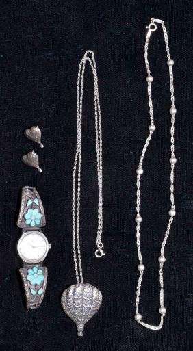 ASSORTED SILVER & STERLING JEWELRY - Includes FAS, LFK