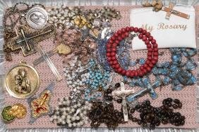 ASSORTED RELIGIOUS JEWELRY - Includes Rosaries,