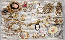 24pcs ASSORTED COSTUME JEWELRY SET - Includes cameos,