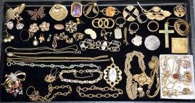 ASSORTED GOLD FILLED COSTUME JEWELRY - Including