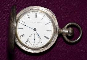 ELGIN NATIONAL WATCH CO COIN SILVER POCKET WATCH -