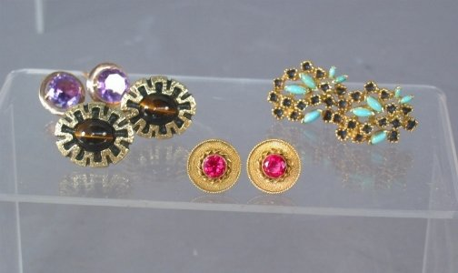 2586: FOUR PRS 14K CUFF LINKS. Lot includes the followi