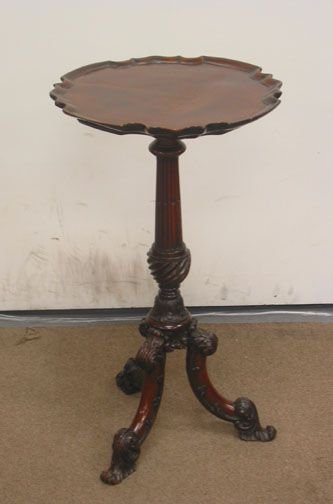 "3348: ""18TH CENTURY ROCOCO CANDLESTAND.  Extremely fine"