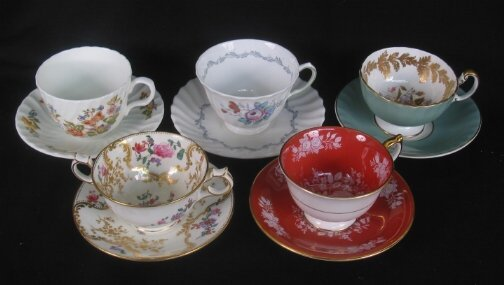 3093: TIFFANY CREAM SOUP, OTHER CUPS. (1) Cream soup an