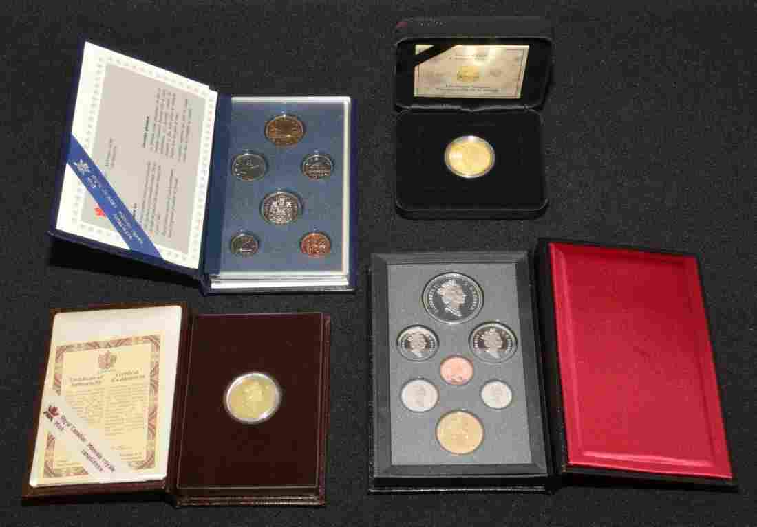 CANADIAN COIN COLLECTION. 1993 Canadian $100 gold proof