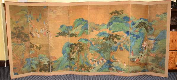 RARE AND IMPORTANT CHINESE QIANLONG SCREEN, DATED 1742,