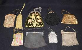 COLLECTION OF PURSES consisting of gold chain mesh