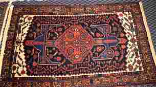 ORIENTAL RUG, 49''W x 76''L. Condition: Age appropriate