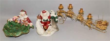 A collection of Santa and Christmas items, Santa