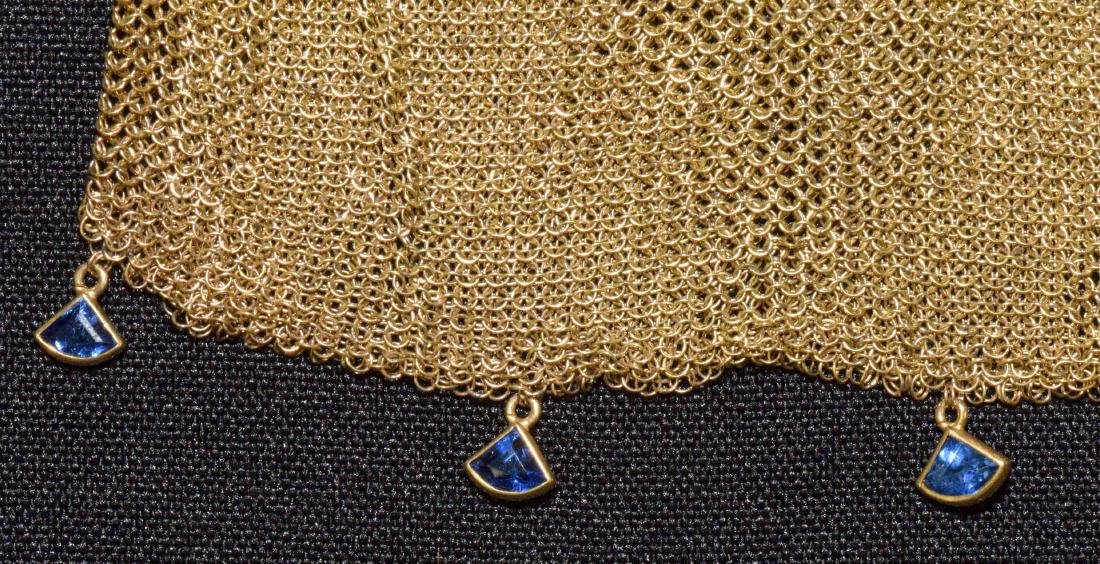 EVENING PURSE WITH CHAIN, 14 kt gold with (14) small - 5