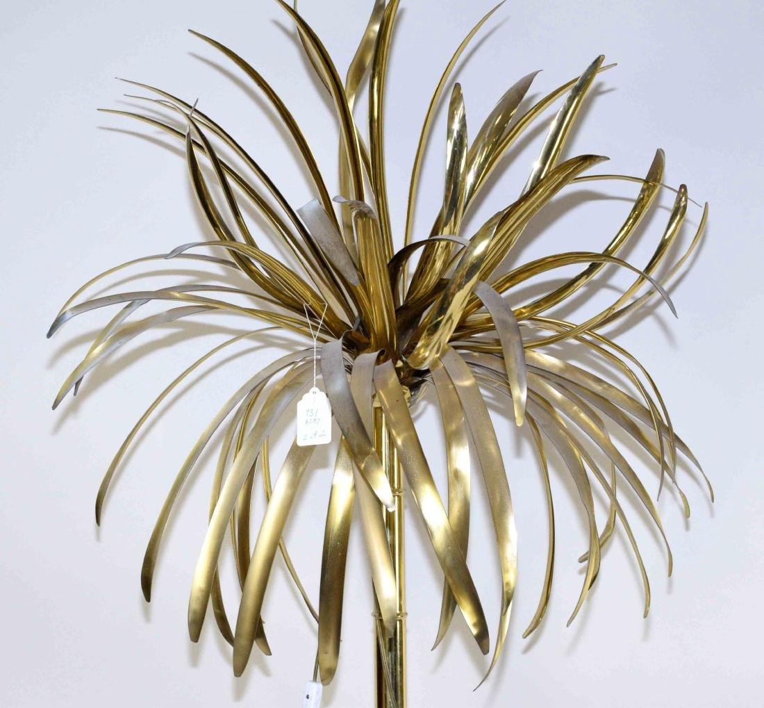 PAIR OF MID-20TH C. MODERNIST BRASS ''PALM TREES'' ON - 2
