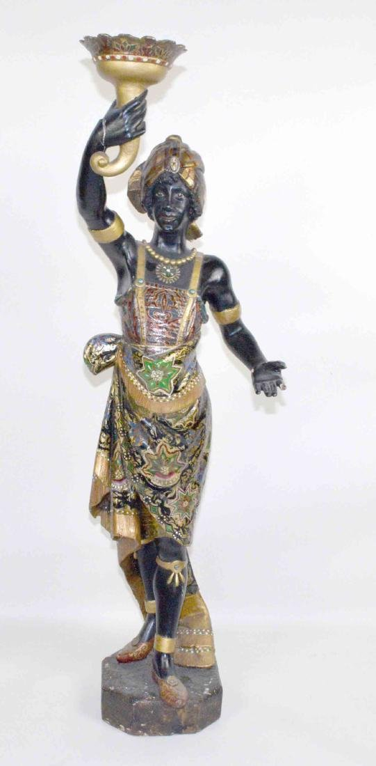 LARGE MALE BLACKAMOOR MADE OF WOOD AND GESSO,