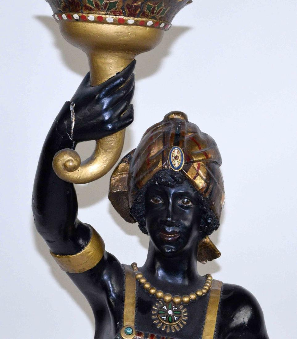 LARGE MALE BLACKAMOOR MADE OF WOOD AND GESSO, - 2