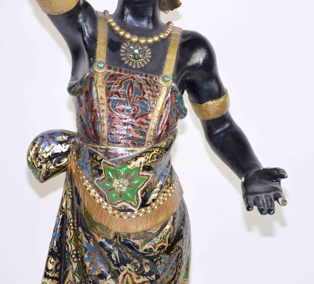 LARGE MALE BLACKAMOOR MADE OF WOOD AND GESSO, - 3