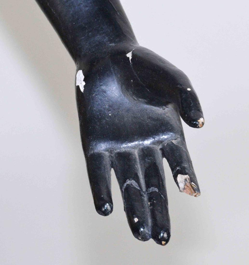 LARGE MALE BLACKAMOOR MADE OF WOOD AND GESSO, - 6