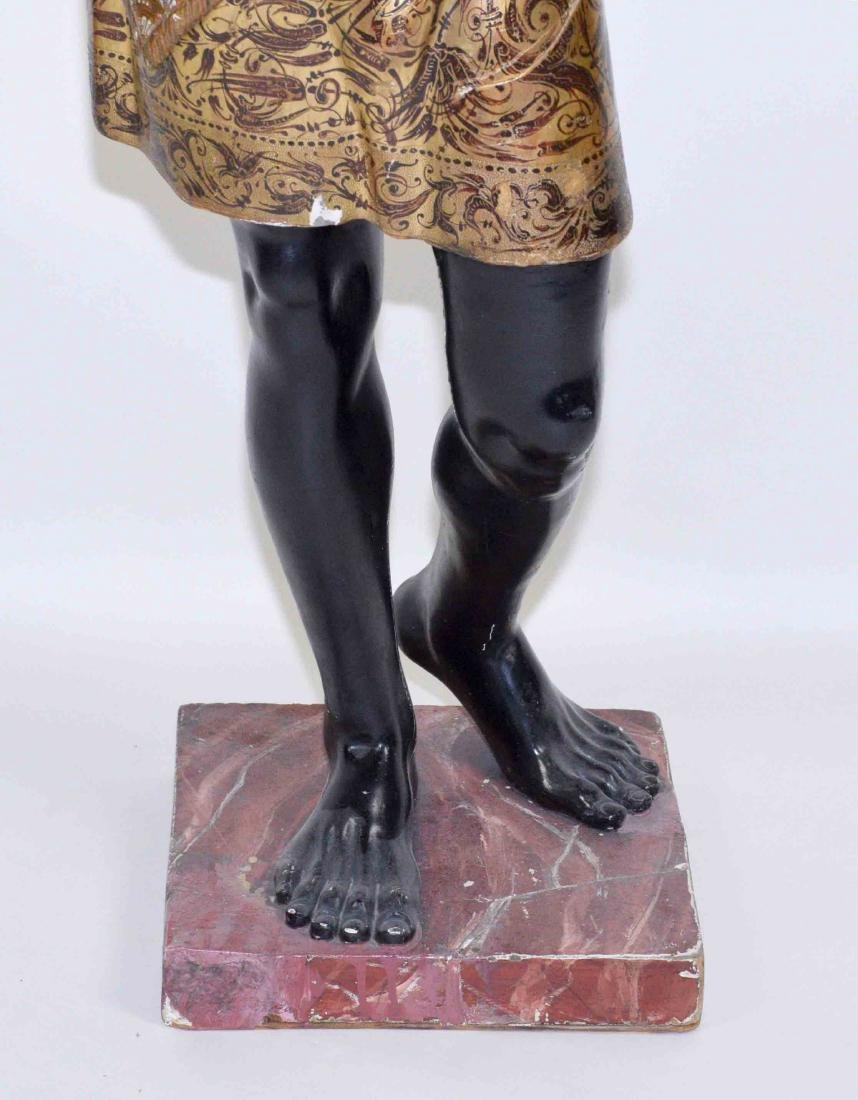 LARGE MALE BLACKAMOOR MADE OF WOOD AND GESSO, - 4