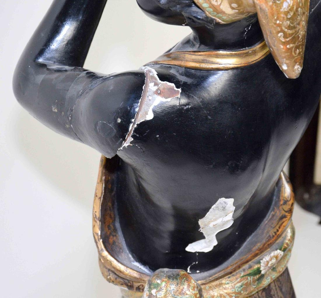 LARGE MALE BLACKAMOOR MADE OF WOOD AND GESSO, - 7