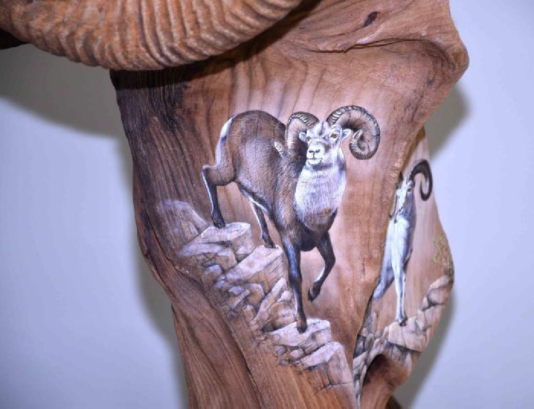 EARL C MARTZ WILDLIFE TREE SCULPTURE ''LITTLE BIG - 7