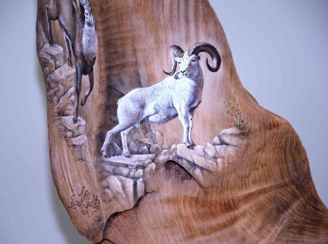 EARL C MARTZ WILDLIFE TREE SCULPTURE ''LITTLE BIG - 9
