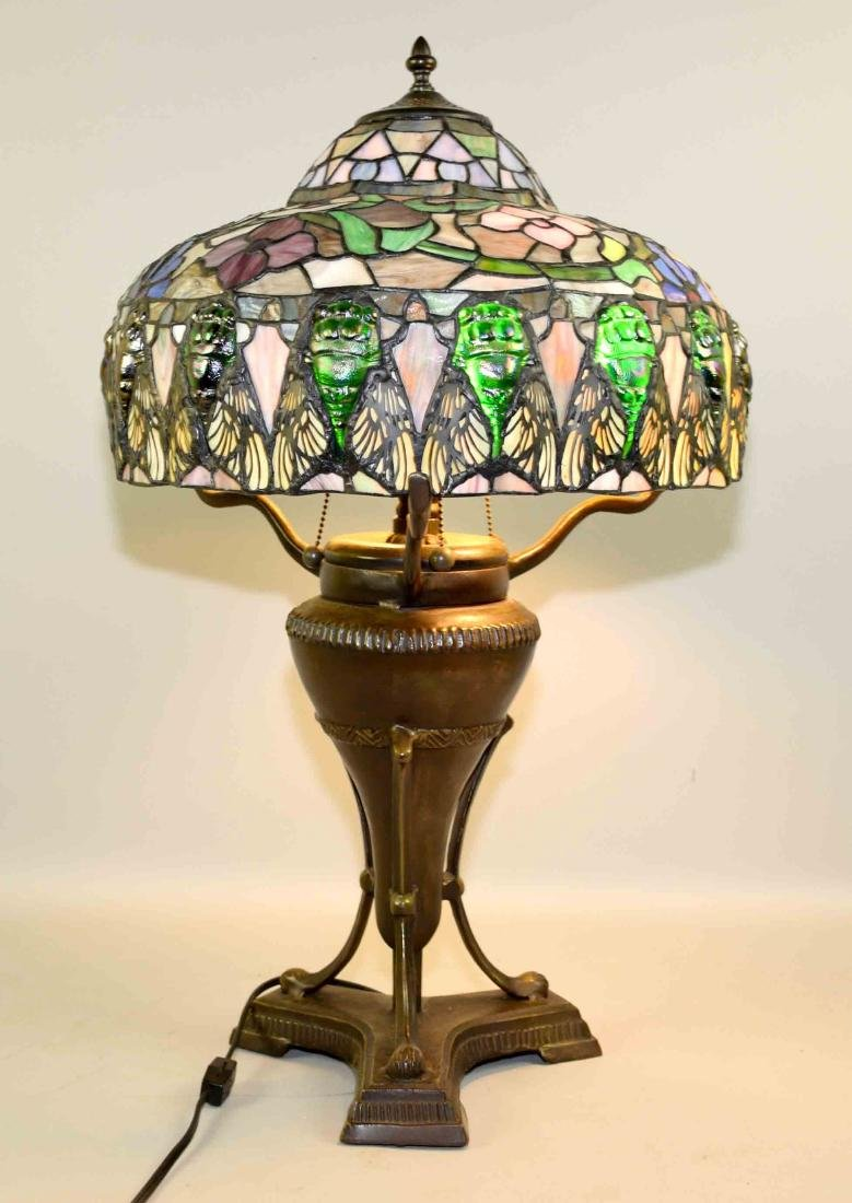 HIGH QUALITY REPRODUCTION OF TIFFANY SCARAB LAMP with