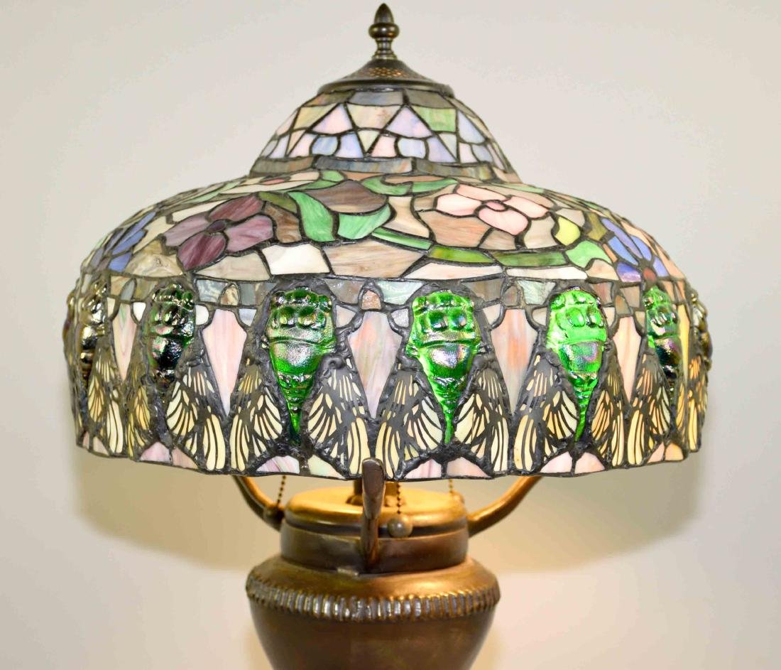 HIGH QUALITY REPRODUCTION OF TIFFANY SCARAB LAMP with - 3