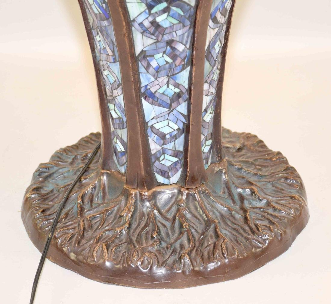 HIGH QUALITY REPRODUCTION OF TIFFANY PEACOCK LAMP with - 2
