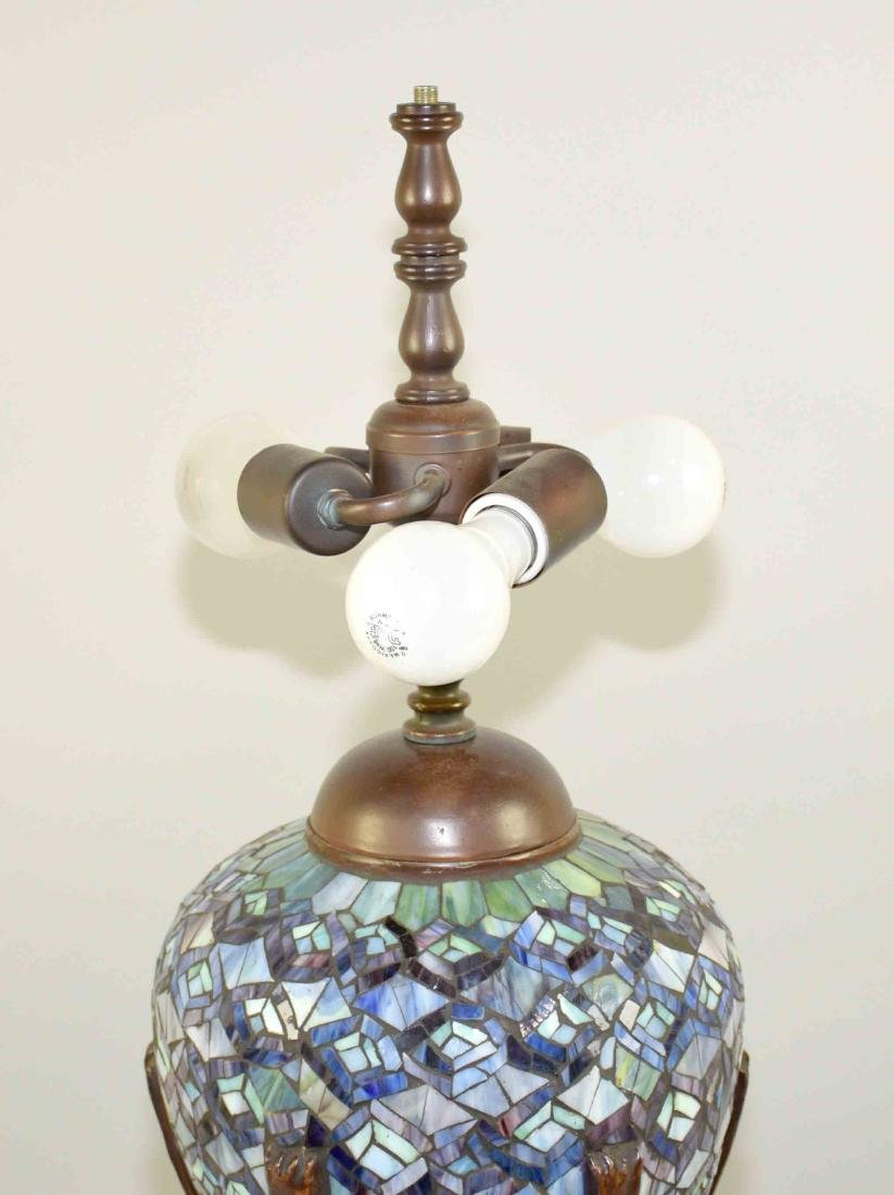 HIGH QUALITY REPRODUCTION OF TIFFANY PEACOCK LAMP with - 5